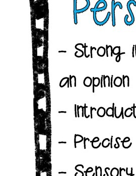 Features of a Great Personal Narrative Anchor Chart