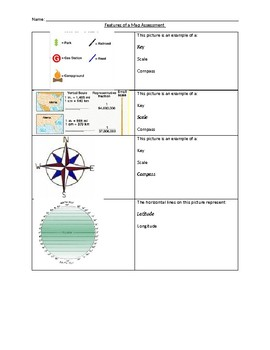 Features of a Map Assessment