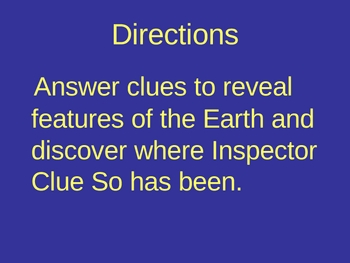 Features of the Earth Power Point Presentation