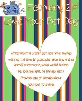 Feb. 21st - Love your Pet Day