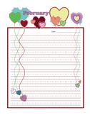 Feb-Valentines Letterhead - K-3rd Grade