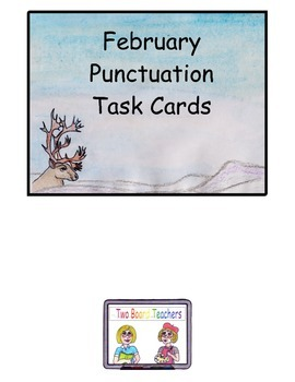 February Punctuation Task Cards