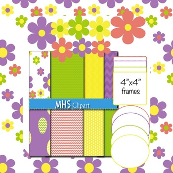 Spring Digital Papers and Frames