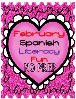 February NO Prep Spanish Literacy Packet:  Prekinder and K