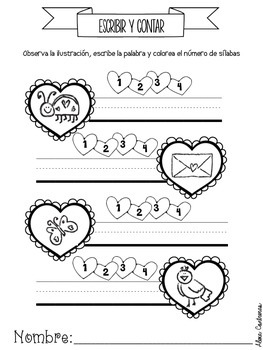 Febrero {Math and Literacy Print and Go Centers in Spanish}