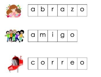 Febrero Vocabulario Letras Magneticas