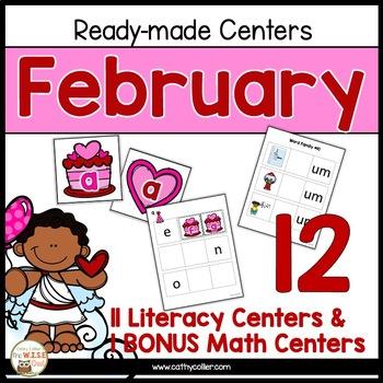 February: 11 Ready-made Reading Centers