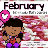 February 1st Grade Math Centers with Task Cards