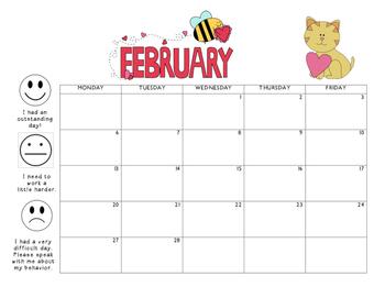 February 2017 Behavior Calendar