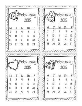 February 2015 Sticker Chart