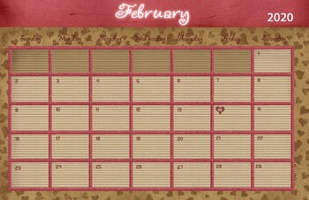February 2019 Calendar 11x17 February 2019 Calendar   11x17 by Drawn to Learn   TpT