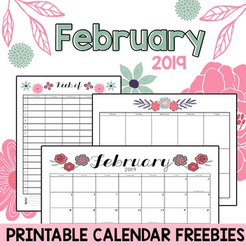 Hourly Calendar 2019 February February 2019 Printable Monthly, Weekly, and Hourly Calendars