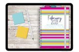 February 2021 Digital Version Teacher Wellness Monthly Planner