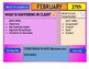 February 2021 Interactive Calendar/Lesson Planner-For any Class (Google Slides)