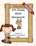February 4th Grade Common Core Aligned Homework Pack- 4 Weeks!