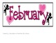February ABBA Pattern Calendar- Pieces/Clip Art