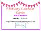 February ABCD Calendar Cards