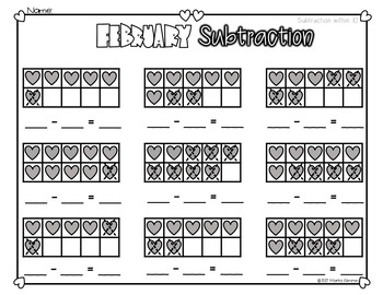 February ADDITION and SUBTRACTION
