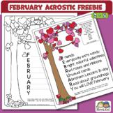 February Acrostic Freebie (Karen's Kids Printables)