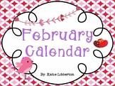 February Kindergarten ActivInspire Calendar