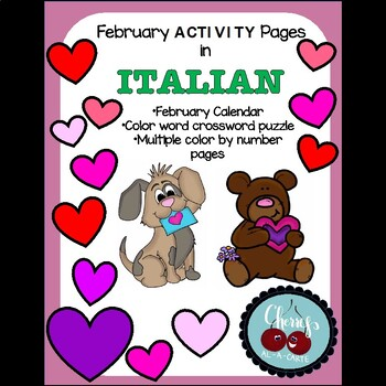 February Activity Pages in Italian
