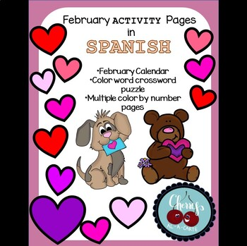 February Activity Pages in Spanish