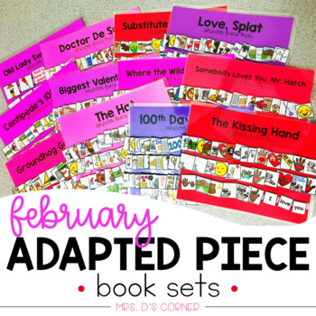 February Adapted Piece Book Set [ 12 book sets included! ]