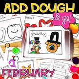 February Add Dough and Go {Playdough Activities}