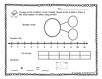 February Addition & Subtraction Story Problems Print & Go/Personalize