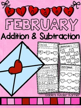 February Addition & Subtraction *Print-N-Go!*