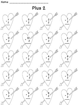February Addition Worksheets Packet - February Math Facts Packet