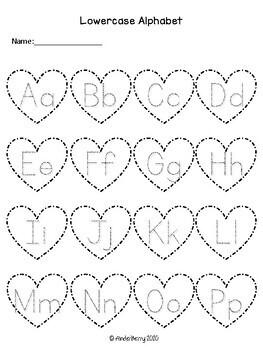 February Alphabet Activities (Valentine's Day)