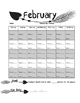 February Arrow Reading Logs
