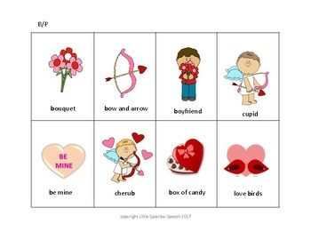 February Articulation Cards - B and P