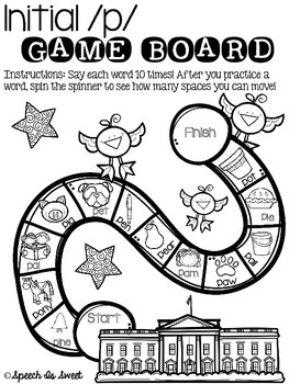 February Articulation Game Boards {Print and Go!}