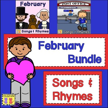 February BUNDLE: February + Post Office Songs & Rhymes