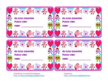 February Behavior Punch Card
