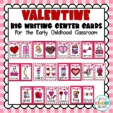 February Big Writing Center Cards: Valentines Day: Literacy Centers