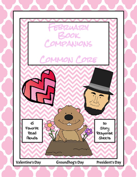 February Book Companions (Valentine's, Groundhog, Presidents)