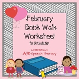 February Book Walk Worksheet