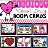 February Boom Cards for Math and Literacy