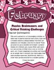 February Brain Teasers and Critical Thinking Challenges- E