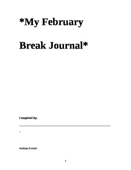 February Break Journal