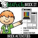 March Bricks Fine Motor Tub Activities- Brick It!