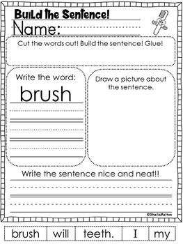 February Build the Sentence