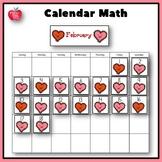 February Bulletin Board Calendar Pieces