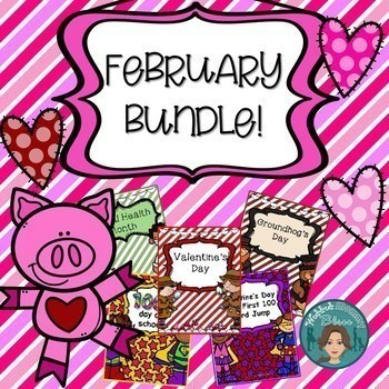 February Bundle - Dental Health, Valentine's Day, Groundhog's Day, 100th Day