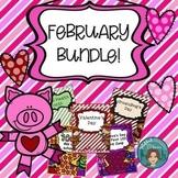 February Bundle - Dental Health, Valentine's Day, Groundhog's Day, 100th Day