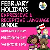 February Holidays BUNDLE: Expressive & Receptive Language