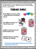 February Phonics and Math Bundle K-2
